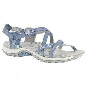 Merrell women's jacardiamet kleine leren bandjes en vrolijke kleuren maakt deze sandaal, die geschikt is voor ...