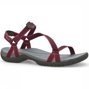 Als je de teva zirra aan je voeten ziet zitten, vergeet je bijna dat de zirra een sportieve sandaal is die ...