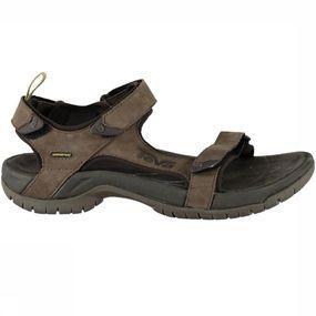 De tanza leather van teva is een sandaal in een stoer jasje door de lerenuitvoering. of je nu een wandeling ...